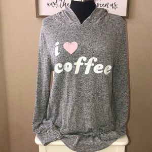 🎉3/$20🎉 I 💗 Coffee Tunic sweater XL